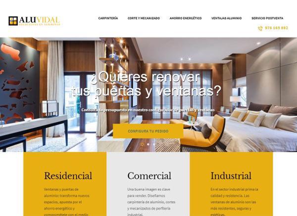 Aluvidal lanza una web para mostrar las cualidades del aluminio y facilitar la creación de presupuestos a medida